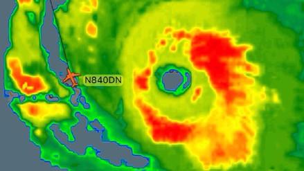 Un vuelo de Delta Airlines evadió el huracán Irma con 173 pasajeros a bordo