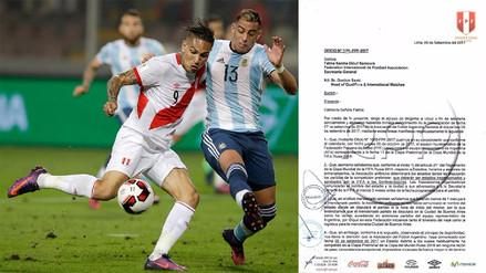 FPF en desacuerdo con que el Argentina vs. Perú se juegue en La Bombonera