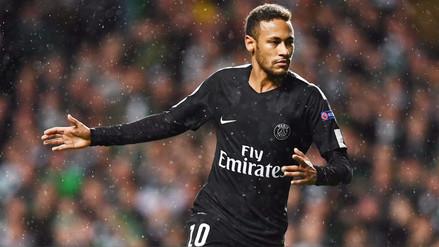 Neymar anotó su primer gol con el PSG en la Champions League