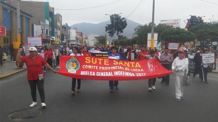Chimbote: descontarán a 3 mil 200 profesores por huelga