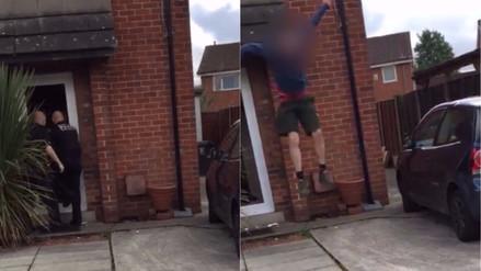 Video | Un ladrón burló a la policía escapándose por la ventana