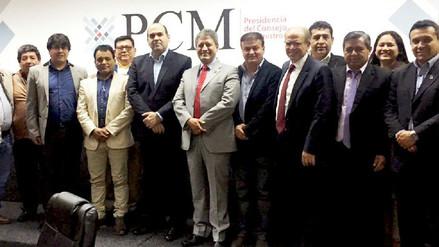 Premier Zavala se reúne con autoridades ediles de la región Cajamarca.