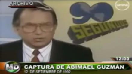 Video | Histórico: Así se anunció la captura de Abimael Guzmán en la televisión