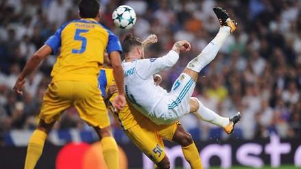 El golazo de 'chalaca' de Sergio Ramos que selló la goleada del Real Madrid