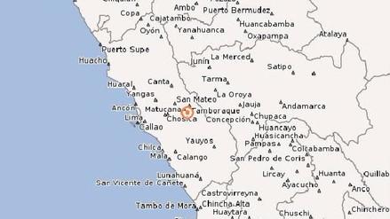 Siete sismos se registraron en Matucana desde este jueves por la madrugada