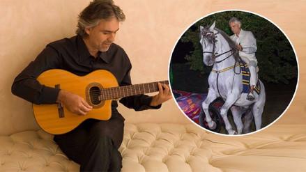 Andrea Bocelli fue hospitalizado tras caer de un caballo