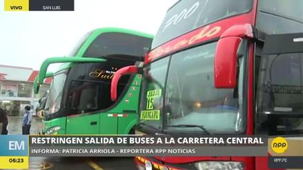 Restringen la salida de buses interprovinciales a la Carretera Central