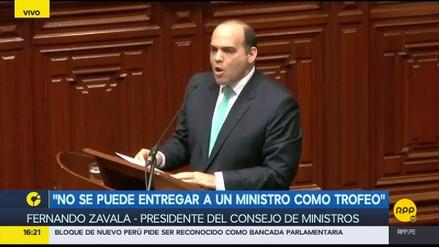 El Congreso le negó la confianza al gabinete de Fernando Zavala
