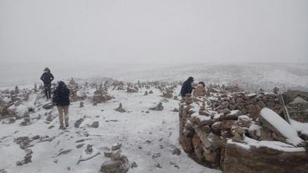 Nevadas afectan zonas altas de provincias de Caylloma y Arequipa