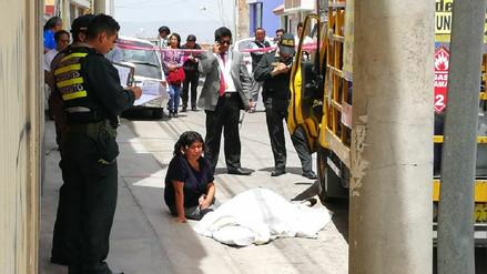 Camión de gas atropelló a anciana en Cerro Colorado