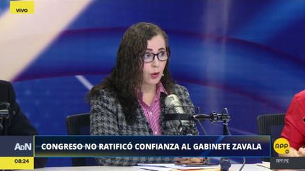 """Rosa Bartra: """"No se puede quedar ninguno de los ministros"""""""