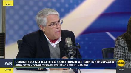 """Costa: """"Con la conducta de Fuerza Popular, no hay gobernabilidad posible"""""""