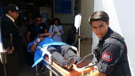 Delincuente acuchilló a policía municipal en Arequipa