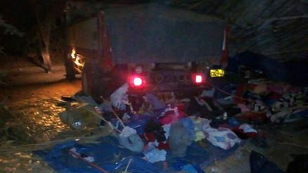 Camión se estrella contra vivienda y mata a esposos en Palpa