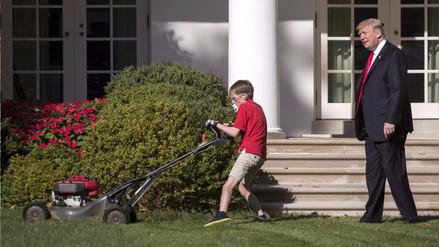 Un niño empresario cortó el césped de la Casa Blanca tras una oferta que Trump no pudo rechazar