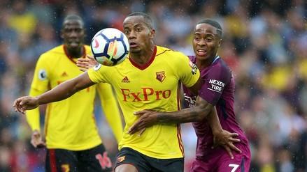 El Watford de André Carrillo fue aplastado por 6-0 a manos del Manchester City