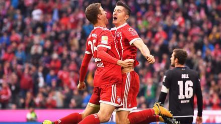 Bayern Munich goleó al Mainz 05 con dobletes de Robben y Lewandoswki
