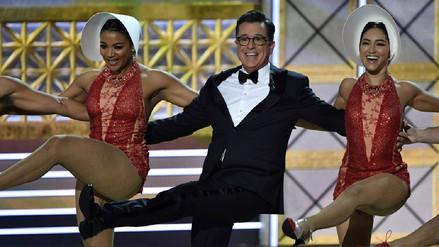 Premios Emmy: Stephen Colbert se burla de Donald Trump
