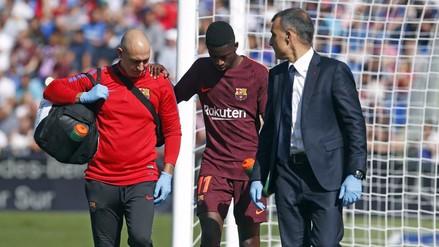 Terrible noticia: Dembélé no jugará cuatro meses por lesión