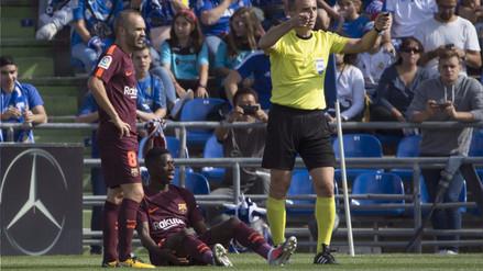 Ousmane Dembélé estará casi cuatro meses de baja por lesión en Barcelona