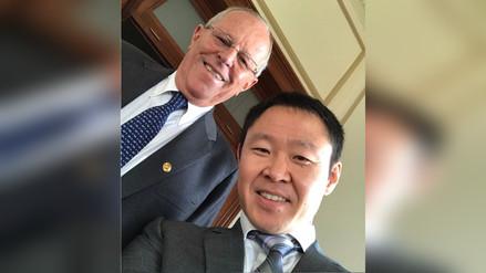 Kenji Fujimori volvió a Palacio luego de 18 años y se tomó un selfie con PPK