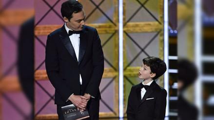 Sheldon y mini-Sheldon se conocieron en los Premios Emmy