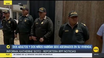Una familia fue asesinada en su vivienda en Villa María del Triunfo