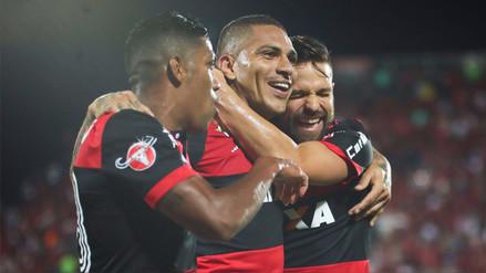 Flamengo destacó el nuevo récord goleador de Paolo Guerrero