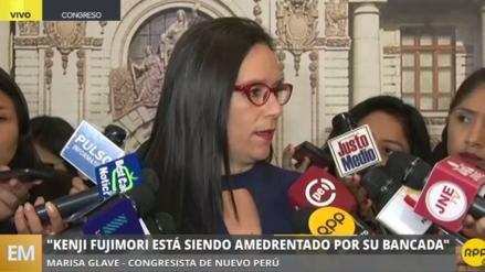 """Marisa Glave: """"Kenji Fujimori está siendo amedrentado por su propia bancada"""""""