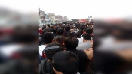 Usuarios reportaron largas colas en la estación Naranjal del Metropolitano