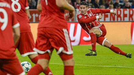 Bayern Munich goleó al Schalke en una clase de fútbol de James Rodríguez
