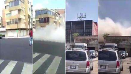 Videos | Grabaron el colapso de edificios tras el terremoto en México