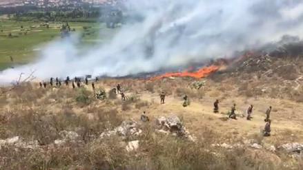 Incendio forestal en Ejército de Cajamarca causa alarma