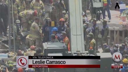 Expectativa por el rescate de una niña bajo los escombros de un colegio en México