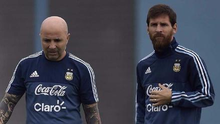 Lionel Messi y Jorge Sampaoli se reunieron en Barcelona pensando en Perú