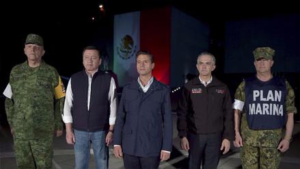 """Peña Nieto tras el terremoto: """"La prioridad es continuar el rescate y atender heridos"""""""