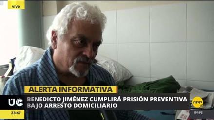 Benedicto Jiménez dejará el Hospital de la Policía para cumplir arresto domiciliario