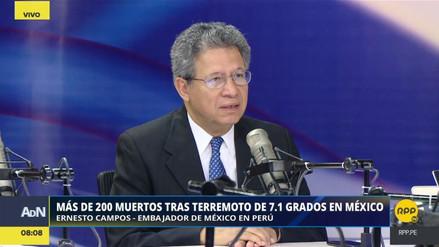 El embajador de México en Perú agradeció las muestras de solidaridad