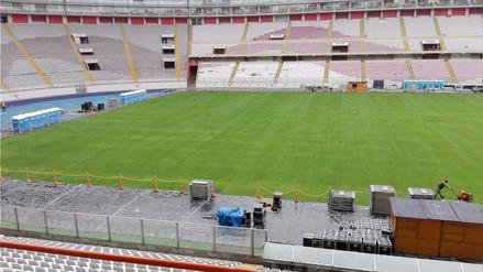 Así luce el campo del Estadio Nacional después del concierto de Maroon 5