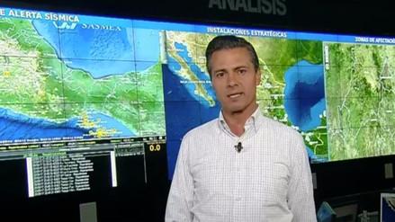 Enrique Peña Nieto anuncia 3 etapas de acción para la reconstrucción de México