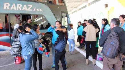 Huancayo: pasajeros arriban con 5 horas de retraso por bloqueo en La Oroya