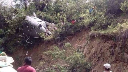 Un helicóptero con ayuda para víctimas de sismo se cayó en México