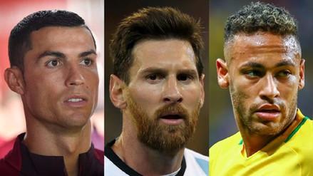 Cristiano Ronaldo, Messi y Neymar, los finalistas de los premios The Best