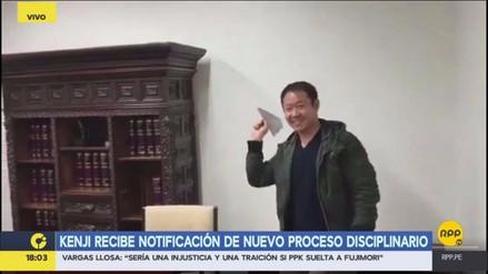 Kenji Fujimori hizo un avión con la notificación de nuevo proceso disciplinario