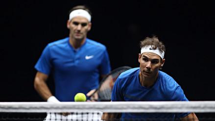 ¡Histórico! Roger Federer y Rafael Nadal jugaron en equipo en la Copa Laver