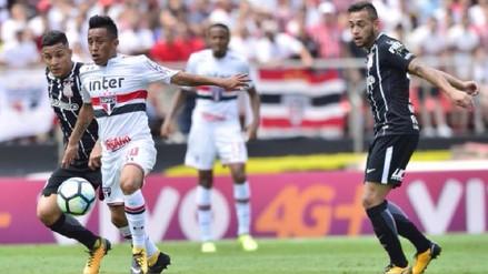 Christian Cueva dio una asistencia de gol en empate de Sao Paulo