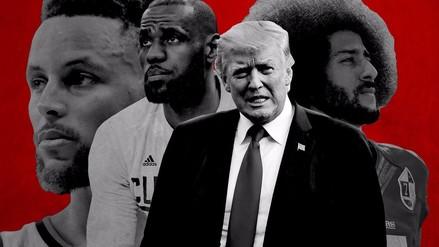Donald Trump sigue su pelea contra atletas de la NFL y la NBA