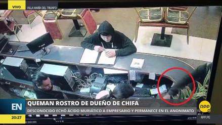 Un empresario chino fue atacado con ácido muriático en Villa María del Triunfo