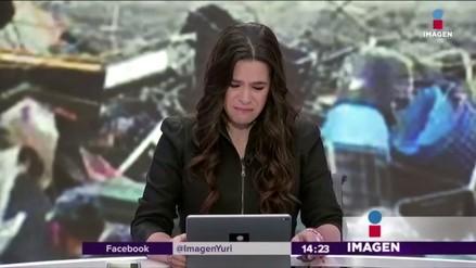 Una periodista rompió en llanto al saber que la esposa de un colega murió por el sismo en México