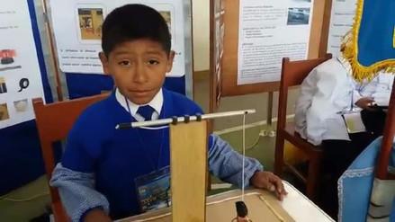 Un niño cusqueño de siete años presentó un sistema de alerta temprana para sismos